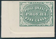 #10X1TC4a GRAY BLUE PLATE PROOF ON CARD TRIAL COLOR BR7662