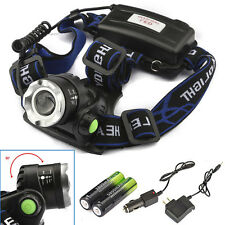 8000lm CREE XM-L T6 LED Headlight Headlamp 18650 Zoomable Flashlight/Charger/BTY
