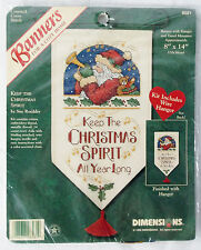 "Dimensions ""Keep The Christmas Spirit"" Banner Counted Cross Stitch Kit"