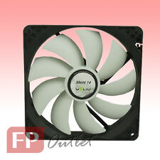 GELID SILENT 14 cm 140mm Low Noise Silence Rubber Mount PC Case Fan FN-SX14-10