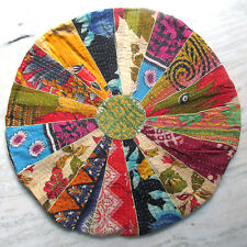 Large Round Floor Cushion Floor Round Pillow Seating Bohemian Patchwork Cover 24
