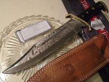Timber Rattler Damascus Western Outlaw TR65D Bowie Hunters Knife Full Tang 16.5""