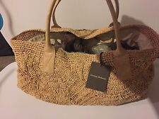 NWT Tommy Bahama Large Straw Beach Tote Shoulder Bag $178
