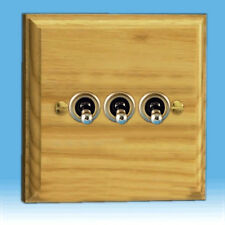 Varilight 3-Gang 10A 1- or 2-Way Toggle Light Switch Ash XKT3A
