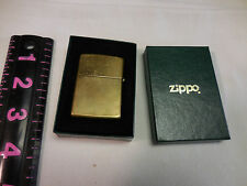 Vintage 1932-1992 SOLID BRASS High Polish ZIPPO Lighter In Box- Used