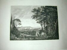 View of Rome Ansicht Veduta Wilson Middiman copperengraving 1820