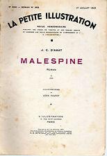 LA PETITE ILLUSTRATION N° 830 - MALESPINE T2, par Jean D'AMAT - 1937