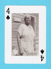 Ex-Slave Betty Bormer Fort Worth Texas JB Playing Card