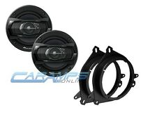"PIONEER 5.25"" 3 WAY CAR TRUCK STEREO SPEAKERS W/ MOUNTING ADAPTER BRACKETS"
