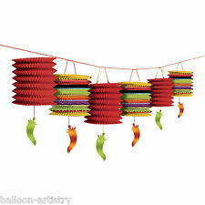 12ft Wild West Mexican Fiesta Festivity Party Peppers Lantern Garland Decoration