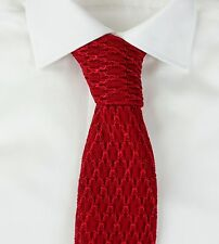 New Tom Ford Luxurious Knit Silk Red Tie