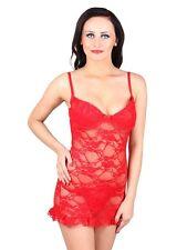 N-Gal: Women Nightwear, Sleepwear, Chemise Nighty, Intimate Lingerie- NG2210-Red
