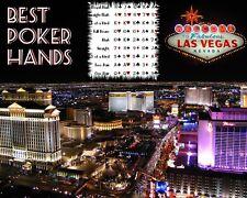 Art Poster Las Vegas Best Poker Hands  Art Print