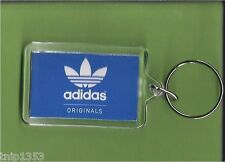 New Adidas Originals Blue/White Key Chain 1/14 inches x 2 inches