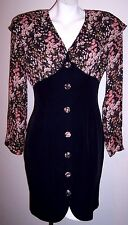 Judy Knapp Dress M Vintage 80's Wiggle Bodycon Figure Flattering Secretary Dress