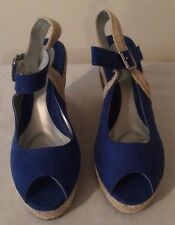 Women's NEW ankle wrap espadrille wedge sandals size 8
