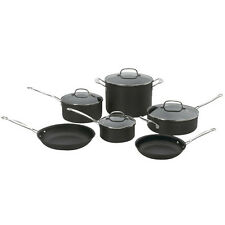 Cuisinart 66-10 Chef's Classic Nonstick Hard-Anodized 10-Piece Cookware Set, New