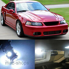 11Pcs Premium Xenon White  Interior LED Lights Package for 94-04 Ford Mustang