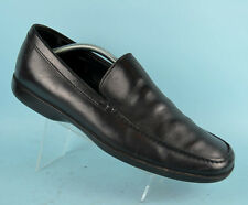 PRADA Black All Leather Mens Formal Casual Shoes Moccasins Size 10 UK 44 EU