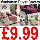 MANHATTAN Floral Polycotton Duvet Cover with Pillowcase Quilt Cover Bedding Set