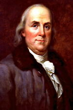 New 5x7 Photo: Portrait of U.S. Founding Father and Statesman Benjamin Franklin