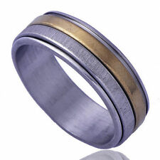 2 Tone Mens Womens Stainless Steel Silver jewellery Wedding Bands Ring Size 10