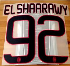2013-14 AC Milan Third Shirt EL SHAARAWY#92 OFFICIAL StilScreen Name Number Set