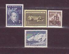 Österreich 1957: Verschiedene Sondermarken + 1 S. Mariazell Michel 1033-1036 pfr