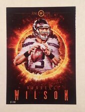 Russell Wilson #ROF-RW Seahawks #ed to/99 made 5x7 2014 Topps Ring of Fire 2015