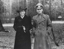 WWII B&W Photo German Field Marshal Erwin Rommel with Wife / 2282 NEW