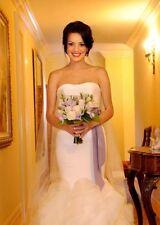 "Fresco Lilac Light Purple 2"" 50mm Wide Silky Satin Ribbon Wedding Gown Sash"