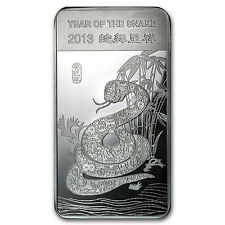 10 oz Year of the Snake Silver Bar - SKU #71915