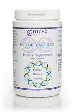 Pure Australian  Organic Emu Oil Capsules -1000 mg(High Strength) x 100 Capsules