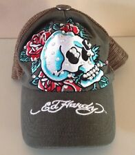 Don Ed Hardy Christian Audigier Scull And Roses Cap - Vintage Tattoo Rhinestones