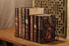 Decorative Heavy Duty Bookends - Metal Large Book Ends - Vintage Tall Books Stan