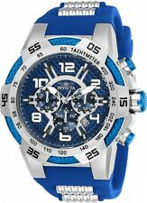 Invicta Men's 51mm Speedway Chronograph Blue Dial Multifunction Watch 24231