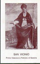 887  San Vicinio - Patrono Sarsina    Santino HolyCard