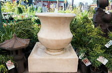 GRC Outdoor Garden Patio Water Feature Cascading Iva Jar Urn Fountain Sandstone