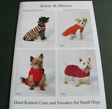 Knitting pattern for very small dog coats size 25-36 cm. chest. DK and Chunky