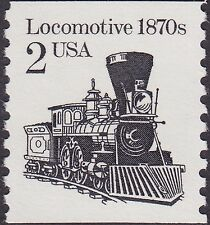 US - 1987 - 2 Cents Black Redrawn Locomotive Transportation Coil Issue # 2226 NH
