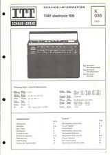 ITT/Graetz Original Service Manual per Tiny Electronic 106