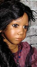 "Super RARE 24"" VINYL DOLL AURA PUPPEN KINDER 1996 ORIGINAL BY ANNETTE HIMSTEDT"