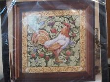 BERRY PATCH ROOSTER ~ Bucilla Counted Cross Stitch Kit