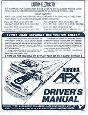 Aurora AFX 1980 Driver's Manual HO Slot Car