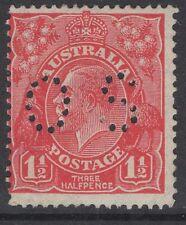 AUSTRALIA SGO100 1926 1½d SCARLET p13½x12½ MTD MINT