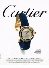 PUBLICITE ADVERTISING 025  1997  CARTIER  collection montre TRINITY