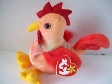 Ty Beanie Babies~4th Generation~Doodle The Rooster~Good Heart Tag~E2