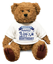 BIG 1st Birthday PERSONALISED Teddy Bear Gift Idea Present Special Son KIDS #52