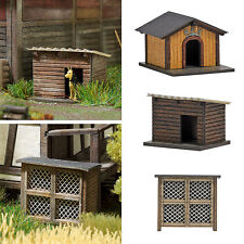 OO/HO Building accessories - Rabbit Hutch & 2 Dog Houses -Busch 1522 - free post