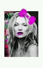 Rare KATE MOSS BOW print COA  embossed ,Signed,Dismaland,DEATH NYC
